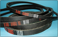 AX Section Cogged Classical V-Belts (1/2-inch Top Width, 5/16-inch Thick)